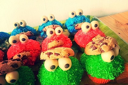 Krümelmonster Muffins 60