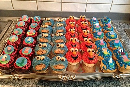Krümelmonster Muffins 96
