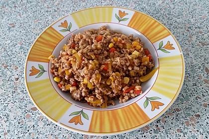 Reispfanne mit Hack 5