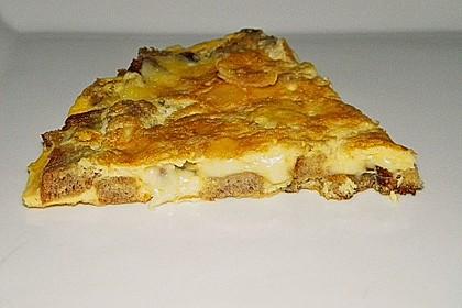 Knoblauch - Brot - Omelette 1