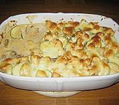 Champignon - Zucchini - Auflauf mit Hähnchenbrust (Bild)