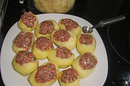 Gefüllte Kartoffeln mit Hack 1