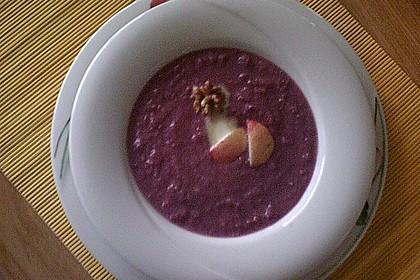 Rotkohl - Walnuss - Suppe 8