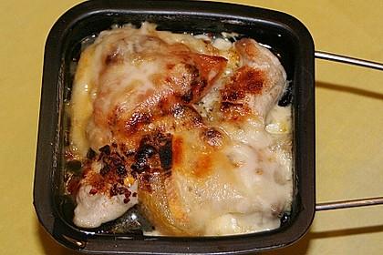 Raclette mit Hähnchenbrustfilets