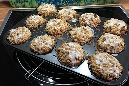 Marzipan - Apfel - Muffins mit Zimtstreuseln 6