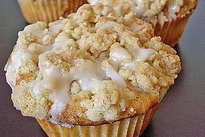 Marzipan - Apfel - Muffins mit Zimtstreuseln