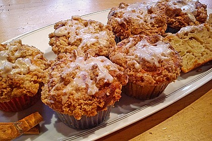 Marzipan - Apfel - Muffins mit Zimtstreuseln 4