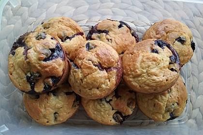 Apfel - Birne - Pflaumen Muffins für Babys