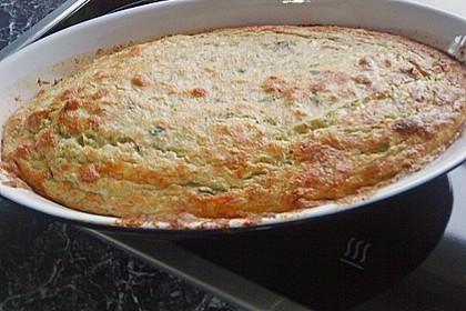 Lauch - Käse Soufflé