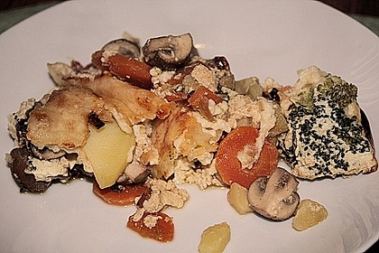 Saftiger Kartoffel - Gemüse - Auflauf 1