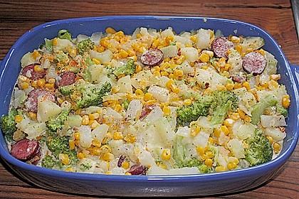 Saftiger Kartoffel - Gemüse - Auflauf 8