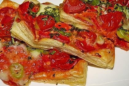 Kleine Blätterteig - Pizzen 2