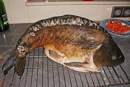 8 kg Karpfen am Stück im Backofen gebacken 2