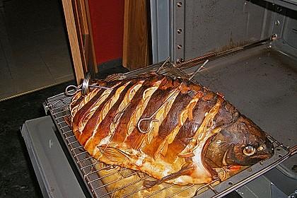 8 kg Karpfen am Stück im Backofen gebacken
