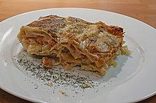Lasagne mit Sauerkraut und Lachs