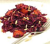 Rotkohlsalat - Rohkost mit Möhre und Tomate