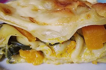 Vegetarische Kürbis-Mangold-Lasagne 1
