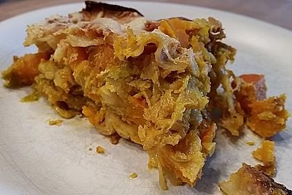 Vegetarische Kürbis-Mangold-Lasagne 11