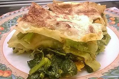 Vegetarische Kürbis-Mangold-Lasagne 8
