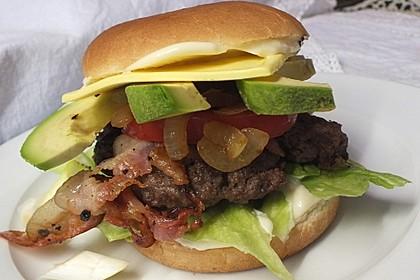 Amerikanischer Avocado-Burger