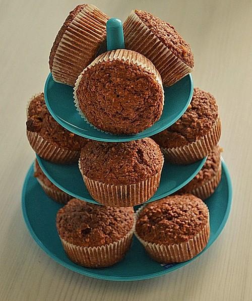 vollkornmuffins mit kokos und schokolade ohne ei rezept mit bild. Black Bedroom Furniture Sets. Home Design Ideas