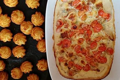 Mozzarella - Hähnchen in Basilikum - Sahnesauce 105