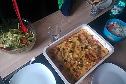 Mozzarella - Hähnchen in Basilikum - Sahnesauce 200