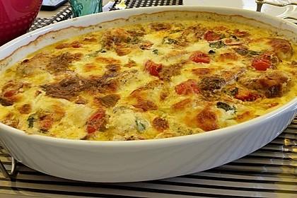 Mozzarella - Hähnchen in Basilikum - Sahnesauce 34