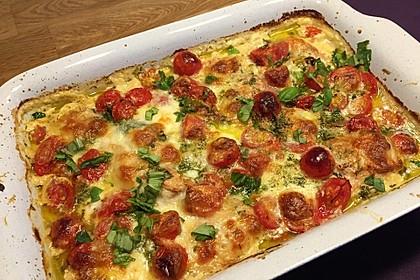 Mozzarella - Hähnchen in Basilikum - Sahnesauce 4