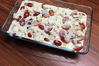 Mozzarella - Hähnchen in Basilikum - Sahnesauce 93