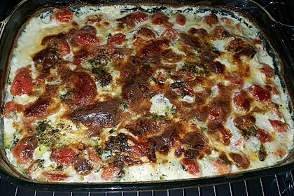 Mozzarella - Hähnchen in Basilikum - Sahnesauce 41
