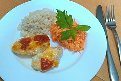 Mozzarella - Hähnchen in Basilikum - Sahnesauce 268