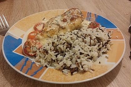 Mozzarella - Hähnchen in Basilikum - Sahnesauce 266