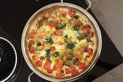 Mozzarella - Hähnchen in Basilikum - Sahnesauce 211
