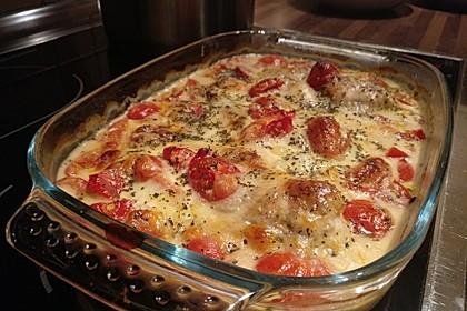 Mozzarella - Hähnchen in Basilikum - Sahnesauce 289