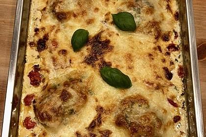 Mozzarella - Hähnchen in Basilikum - Sahnesauce 265