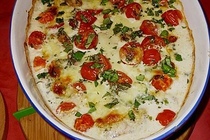 Mozzarella - Hähnchen in Basilikum - Sahnesauce 215
