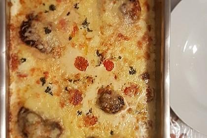 Mozzarella - Hähnchen in Basilikum - Sahnesauce 131