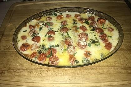 Mozzarella - Hähnchen in Basilikum - Sahnesauce 216