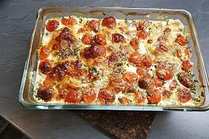 Mozzarella - Hähnchen in Basilikum - Sahnesauce 217
