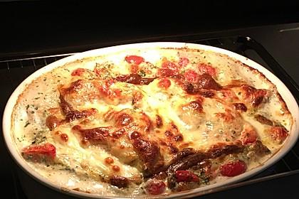 Mozzarella - Hähnchen in Basilikum - Sahnesauce 78