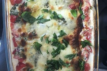 Mozzarella - Hähnchen in Basilikum - Sahnesauce 295