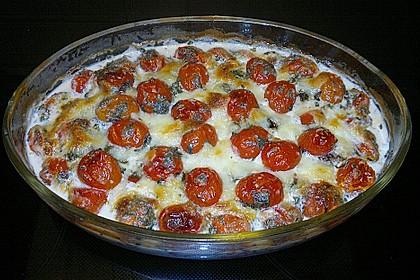 Mozzarella - Hähnchen in Basilikum - Sahnesauce 237