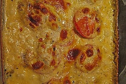 Mozzarella - Hähnchen in Basilikum - Sahnesauce 353