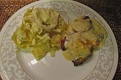 Mozzarella - Hähnchen in Basilikum - Sahnesauce 342