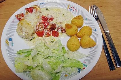 Mozzarella - Hähnchen in Basilikum - Sahnesauce 285