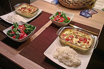 Mozzarella - Hähnchen in Basilikum - Sahnesauce 2