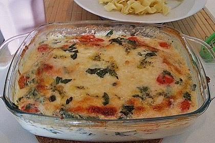 Mozzarella - Hähnchen in Basilikum - Sahnesauce 281