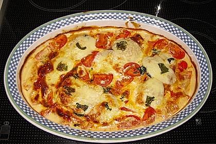 Mozzarella - Hähnchen in Basilikum - Sahnesauce 178
