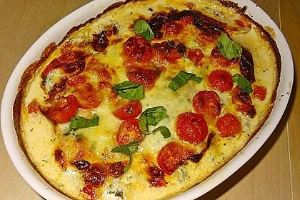 Mozzarella - Hähnchen in Basilikum - Sahnesauce 80
